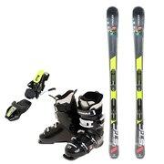 スキー3点セット メンズ スキー板150CM ビンディング ブーツ メンズ 150cm 初心者/中級者にオススメ シュトロイレ ブラック