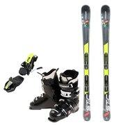 スキー3点セット メンズ スキー板160CM ビンディング ブーツ メンズ 160cm 初心者/中級者にオススメ シュトロイレ ブラック