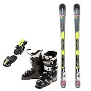 スキー3点セット メンズ スキー板165CM ビンディング ブーツ メンズ 165cm 初心者/中級者にオススメ シュトロイレ ブラック