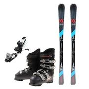 スキー3点セット メンズ スキー板155CM ビンディング ブーツ メンズ 155cm 初心者/中級者にオススメ フォルクル ダルベロ ブラック