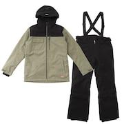 スノーボード スキー ウェア メンズ 上下セット クール ブロック スーツ AB03WSB1226 KHK