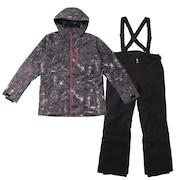スキーウェア メンズ 上下セット ハンター カモ スーツ AB03WSB1227 BLK