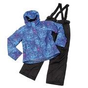 スキーウェア レディース ヒートクロス ボタニカルプリントスーツ 317L9MP5611 NVY