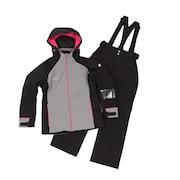 スキーウェア 上下セット スーツ DWWMJH87 BLK