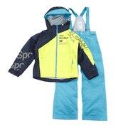 スキーウェア キッズ 上下セット ジュニア スーツ DWJMJH95 LGN 雪遊び ウェア