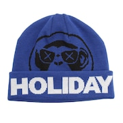 スキー スノーボード ニット帽 メンズ CIRCLELOGO ビーニー ニットキャップ BLUE