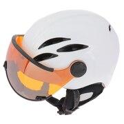 スキー スノーボード ヘルメット メンズ バイザー付ヘルメットCURAKO 19KT CPC1928WHS