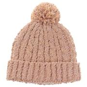 モールミックスポンポン ニット帽 192D5773 BEG