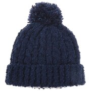 モールミックスポンポン ニット帽 192D5773 NVY