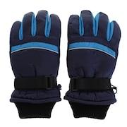スキー グローブ ジュニア 5本指グローブ ラインF ASST SP-070 ネイビー キッズ 手袋 雪遊び
