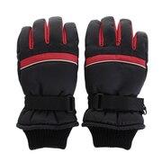 スキー グローブ ジュニア 5本指グローブ ラインF ASST SP-070 ブラック キッズ 手袋 雪遊び