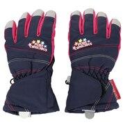 スキー グローブ ジュニア マチ付き五指グローブ KG 333L9DE9399 NVY キッズ 手袋 雪遊び