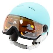 スキー スノーボード ヘルメット ジュニア キッズ スキーヘルメット 20 GROM VISOR 408370