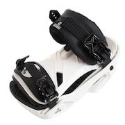 スノーボードビンディング 20 RHYTHM 408977 WHT ディスク&ビス、保証書付