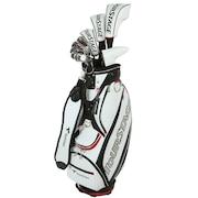 初心者 ゴルフクラブセットTOUR STAGE V002 クラブセット フレックスS (DR、5W、4U、6I~9I、PW、PS、SW、パター 11本セット) キャディバッグ付