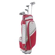 ゴルフクラブセットTCH88CL キャディバッグ付8本セット ピンク (1W、4W、U5、7I、9I、PW、SW、PT、キャディバッグ)