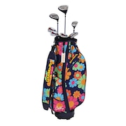 ゴルフクラブセットレディース 7本セット(DR、FW、UT、W7、W9、SW、PT) LM-LS2018 Cathy 126 Flower Power