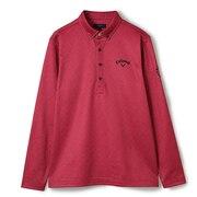 へリンボンプリント裏起毛B.D長袖シャツ C21233106-1090