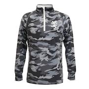 カモプリント ハイネックZIPシャツ ADMA0A7-GRY