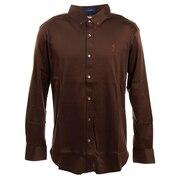 ゴルフ シャツ メンズ GIZAフライスボタンダウンシャツ FV38VG01 BRN