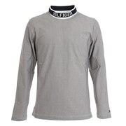 ハウンドトゥース ハイネックシャツ THMA073-WHT