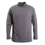 リブ グラフィック 長袖モックネックシャツ 930328-03