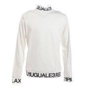 ロゴ ハイネック 長袖Tシャツ UST-21047 white