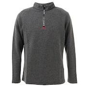 ジップアップ長袖シャツ 051-733117 BK