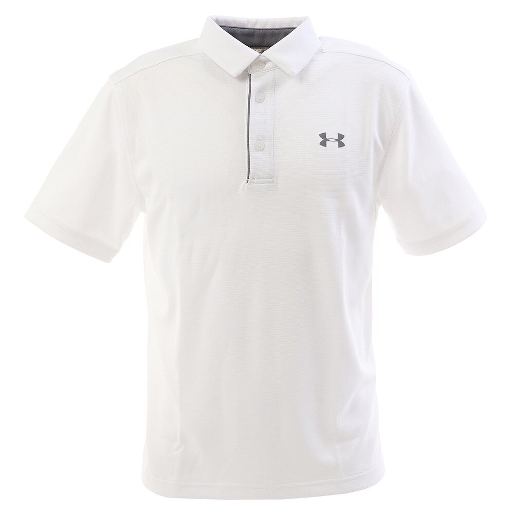 アンダーアーマー ゴルフ ポロシャツ メンズ テックポロシャツ 1290140 WHT/GPH/GPH GO