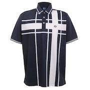 ゴルフ ポロシャツ メンズ ブロックポロシャツ FD5HTG04 NVY