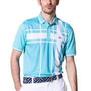 ゴルフ ポロシャツ メンズ ブロックポロシャツ FD5HTG04 SAX