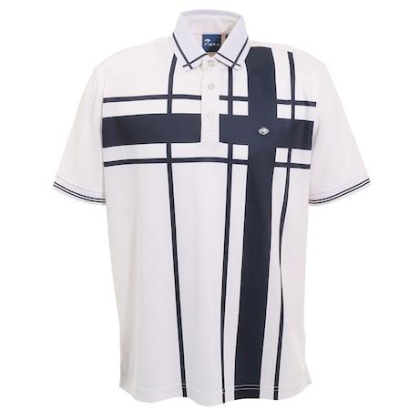 ゴルフ ポロシャツ メンズ ブロックポロシャツ FD5HTG04 WHT