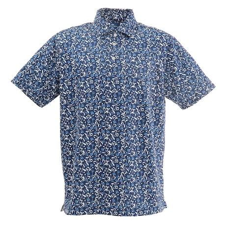 ゴルフ ポロシャツ メンズ フラワーポロシャツ FD5HTG51 NVY