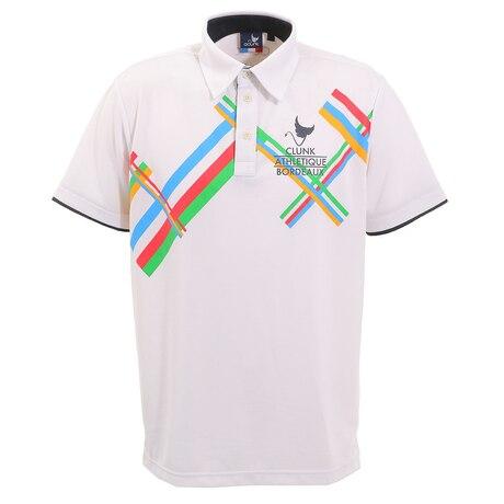 ゴルフ ポロシャツ トリコモチーフポロシャツ CL5HTG08 WHT