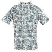 ゴルフウエア メンズ シーサイドチェックワイドカラーポロシャツ 151-22440-013