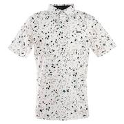 ゴルフウエア メンズ マーブルプリントポロシャツ 151-22442-004
