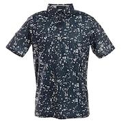 ゴルフウエア メンズ マーブルプリントポロシャツ 151-22442-098