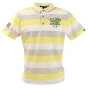 ポロシャツ メンズ ボーダー半袖ポロシャツ 044-22243-032