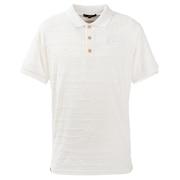 ポロシャツ メンズ 麻混パイルジャカード半袖ポロシャツ 044-22444-005