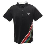 ポロシャツ メンズ  ボタニカル柄半袖シャツ 241-0134519-010