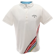 ポロシャツ メンズ  ボタニカル柄半袖シャツ 241-0134519-030