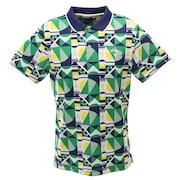 ポロシャツ メンズ  幾何学柄プリント半袖ポロシャツ 241-0134524-130