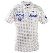ゴルフ ポロシャツ メンズ 市松柄プリント鹿の子シャツ DGMPJA31-WH00