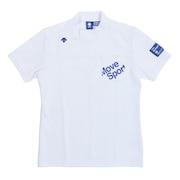 ゴルフ ポロシャツ メンズ ポイントメッシュハイネックシャツ DGMPJA44-WH00