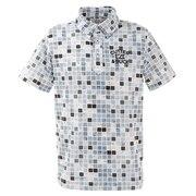 ブロックプリントBDカラーシャツ CGMPJA36-BK00