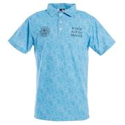 タイダイプリントポロシャツ E20 CL5HTG62 BLU