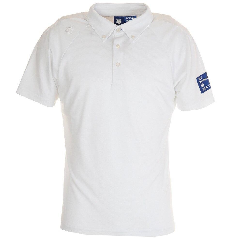 デサントゴルフ シャドーボーダーボタンダウンシャツ DGMPJA36-WH00