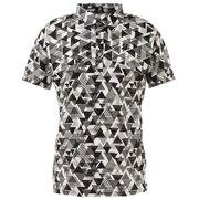 幾何学柄プリント半袖シャツ 3GT05ABK