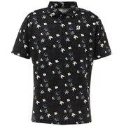 半袖花柄プリントシャツ TGM05ABK
