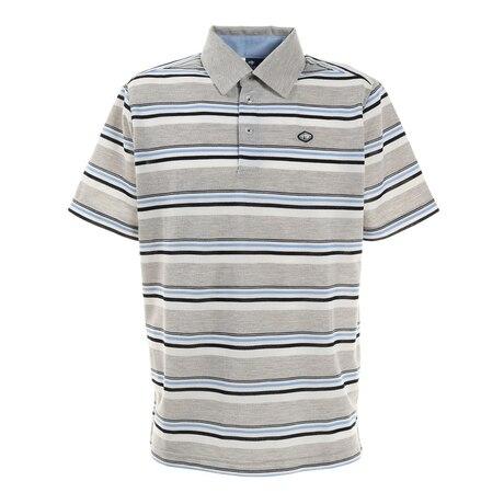 ゴルフ ポロシャツ ストライプ ポロシャツ FD5KTG03 GRY